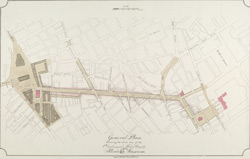 General Plan, shewing the whole line of the Proposed New Street to the British Museum